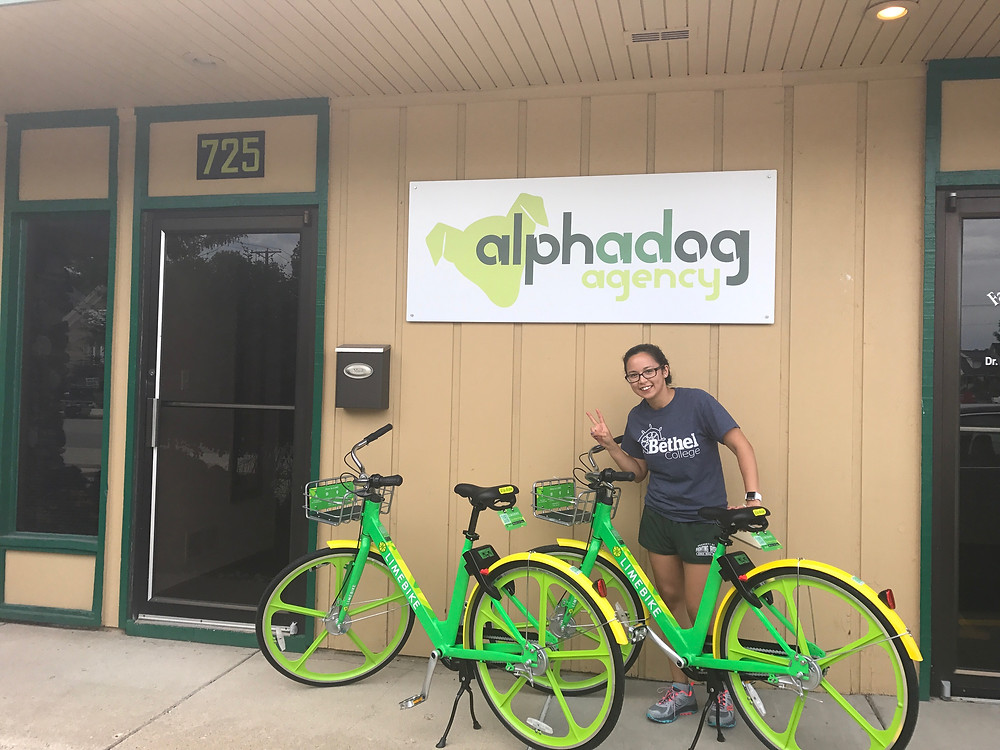 LimeBikes Outside Of The Office