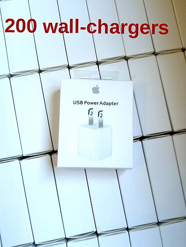200 New 5W USB Wall Charger Power Adapter For iPhone iPad iPod/Universal