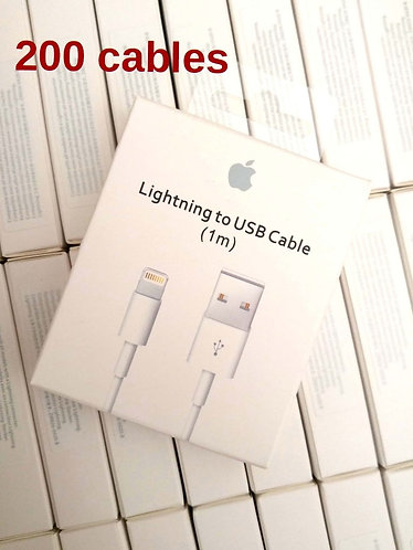200 New 3ft/1M Cables For iPhone/iOS 8-pin Lightning to USB Data Charger