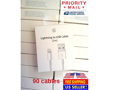 90 New 6ft/2M Cables For iPhone/iOS 8-pin Lightning to USB Data Chargers