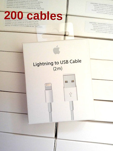 200 New 6ft/2M Cables For iPhone/iOS 8-pin Lightning to USB Data Chargers