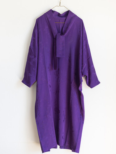 purple ガウンワンピース