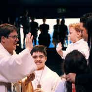 Gottesdienst mit Taufe Knie 2019