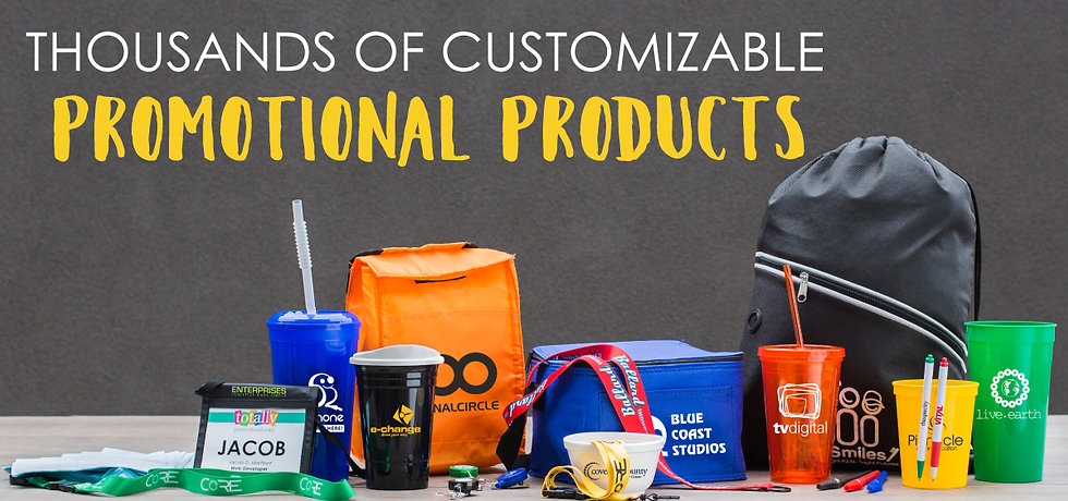 Promotional Products pens cups koozies
