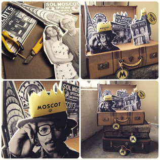 Moscot Birthday Campaign Props