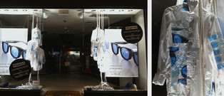 Oliver Peoples x Takahiro Miyashita The Soloist , custom shirt props for campaign windows