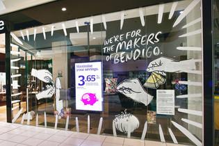 Bank of Melbourne For the Makers Campaign Windows Bendigo