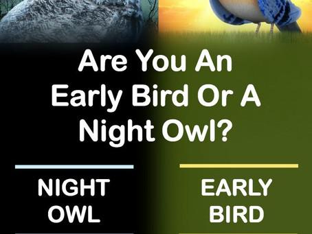 Night Owl or Lark?  Personality Traits Predict Sleep Patterns