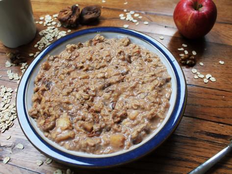 How to make: apple, fig and walnut porridge