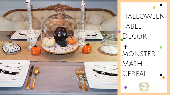 Halloween Kitchen Table Decor