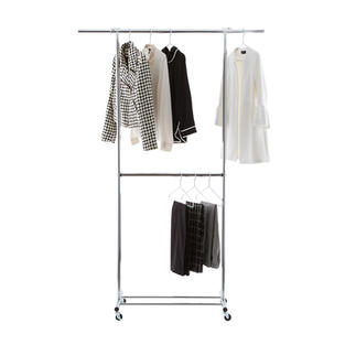 Metal Double Hang Clothes Rack