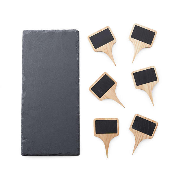 Slate Cheese Board & Markers Set