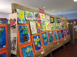 Local children's art exhibit