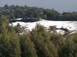 Snow in our local hills