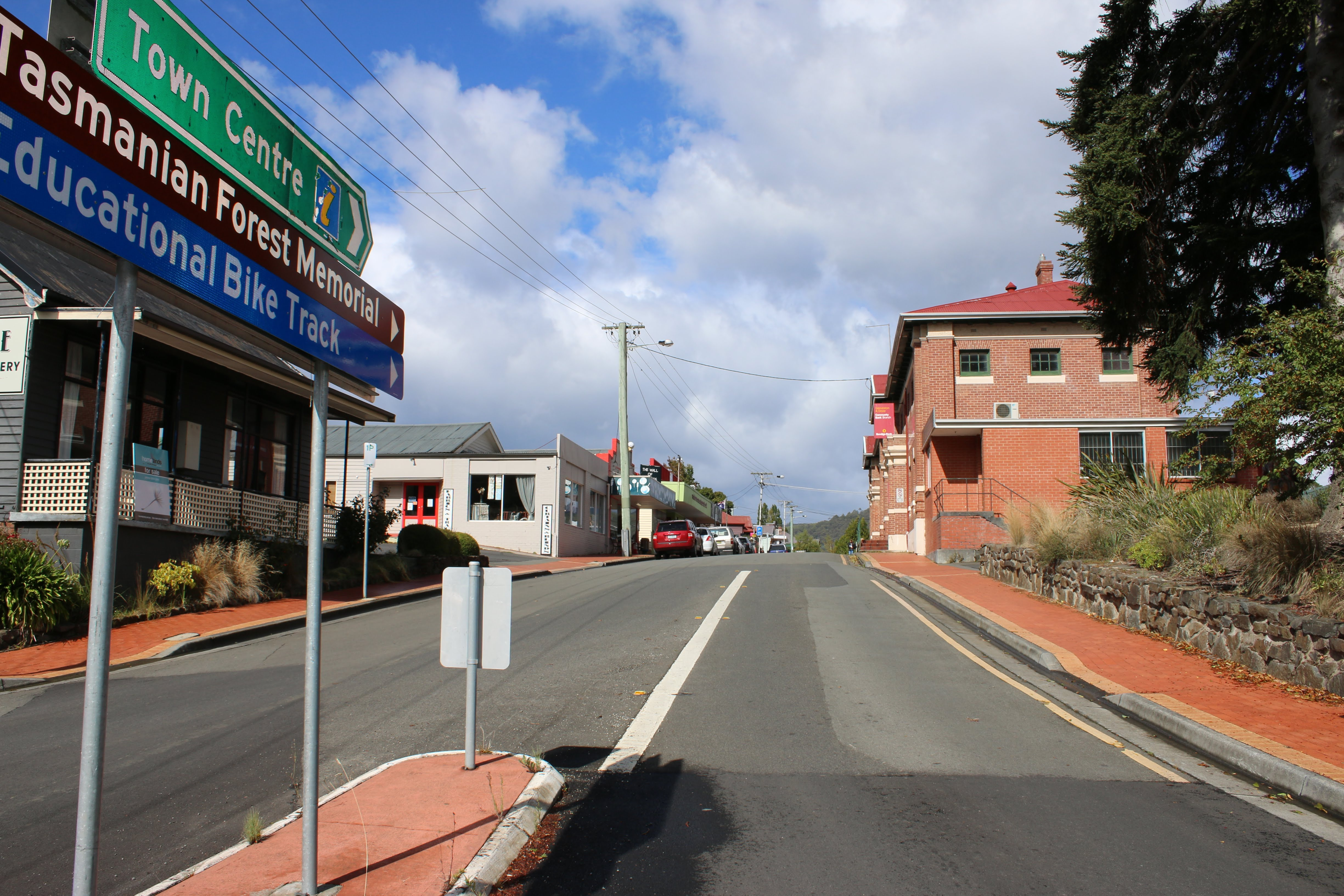 Our main street from Arve Rd