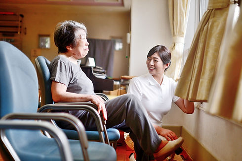 介護施設の女性