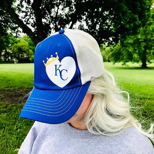 Crown KC Heart Trucker Hat