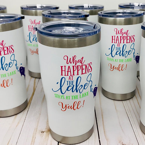 White Cups with Personalization