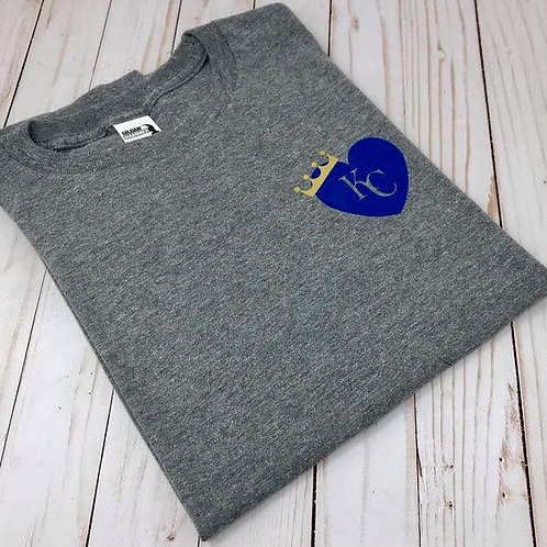 KC Royal Heart with Crown pocket size