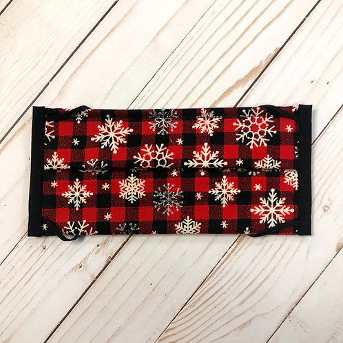 Red Buffalo Plaid with snowflakes