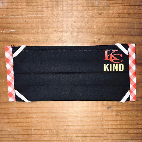 KC Kind Red Checkered Mask