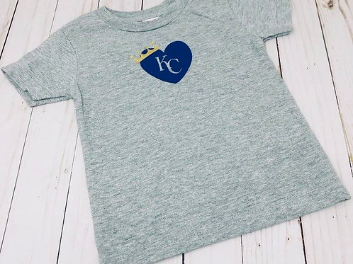 KC Royal Heart with Crown - Toddler & Youth