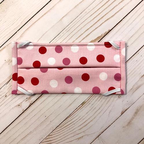 Pink, Red, White Polka Dot