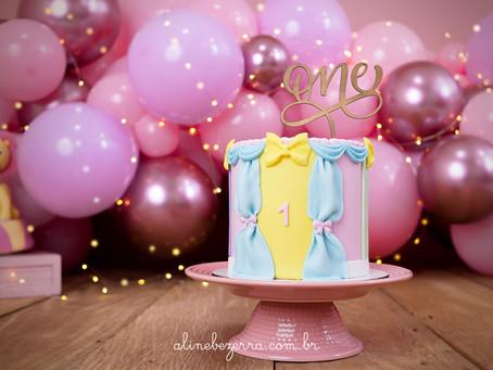 Smash The Cake Beatriz - Tema: Circo Rosa