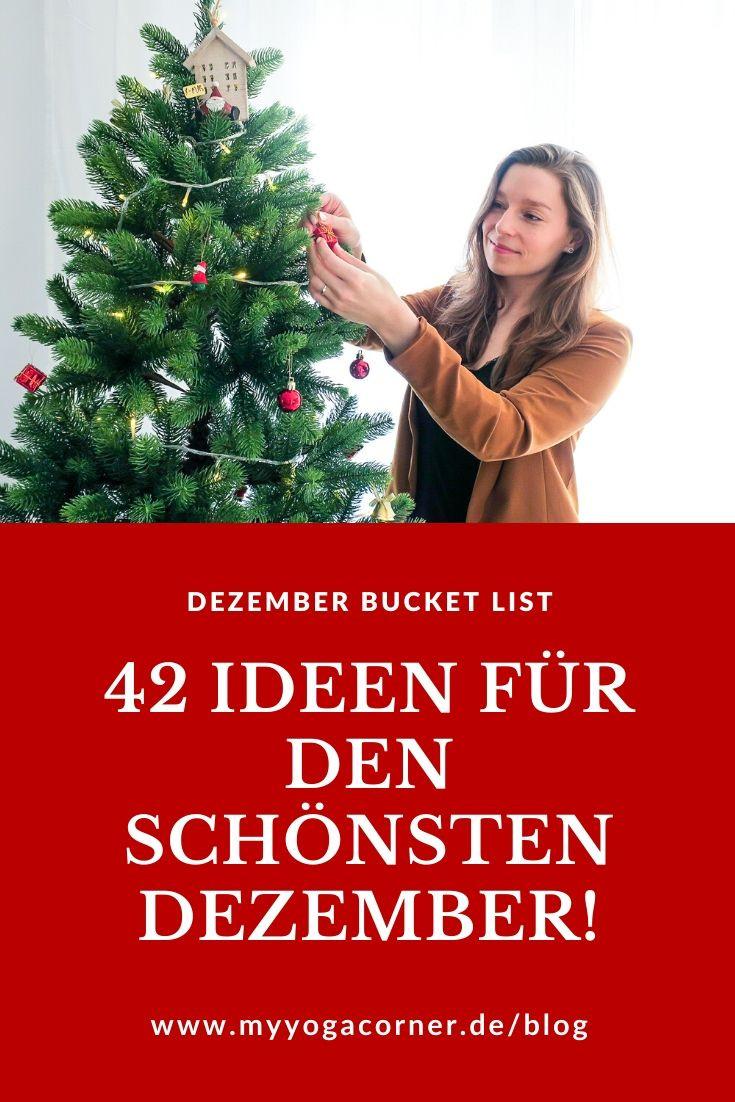 42 Ideen für den schönsten Dezember deines Lebens! #schönsterdezember #dezemberplanung #weihnachten #christmasideas