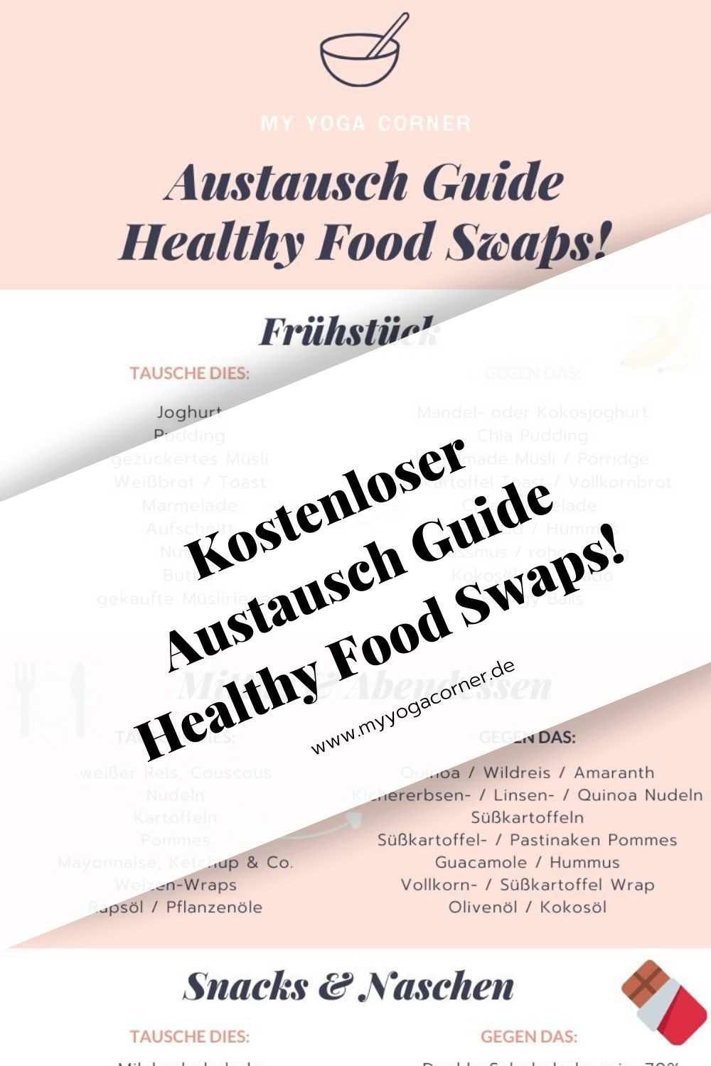 Dein Austausch Guide - Healthy Food Swaps! #austauschguide #guide #food #swaps #easy #healthy #lifestyle #gesund #vegan #clean #eating #recipe #inspiration