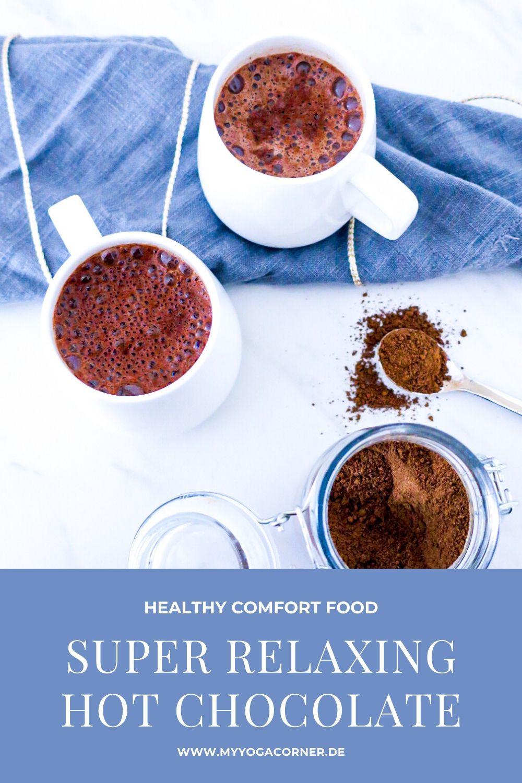 Super relaxing hot Chocolate - Healthy Comfort Food  #healthy #comfort #food #reishi #vitalpilz #mushroom #hotchocolate #vegan #gesund #schnell #einfach #corona