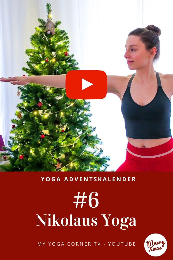 Yoga Türchen Nr. 6 Nikolaus Yoga - my yoga corner Adventskalender #yoga #adventskalender #yogavideo #pose #asana #nikolaus