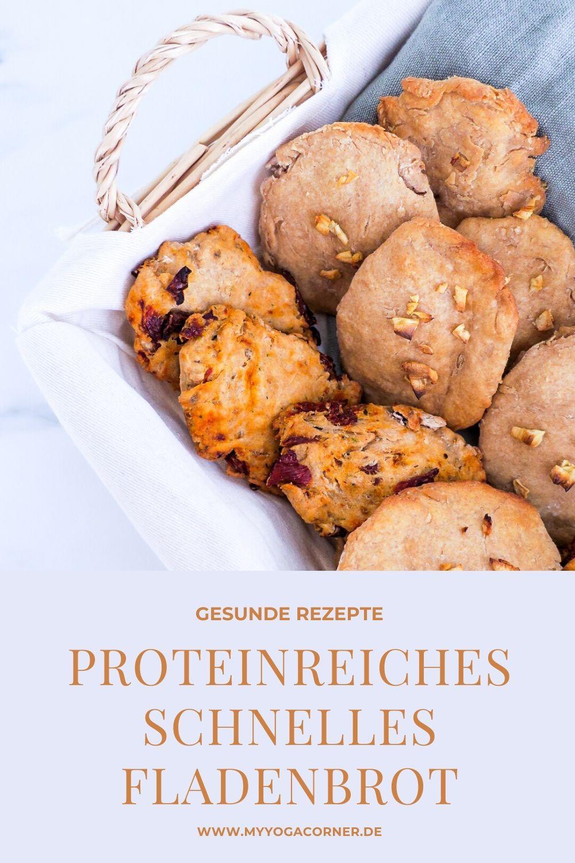 Proteinreiche schnelle Fladenbrote - 3 Varianten #rezept #fladenbrot #flatbread #gesund #schnell #einfach #easy #healthy #vegan #recipes #clean #snack