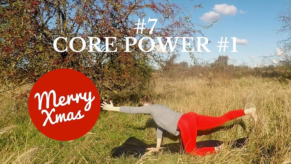 Yoga Türchen Nr. 7 Core Power #1 - my yoga corner Adventskalender #yoga #adventskalender #yogavideo #pose #asana #nikolaus #core