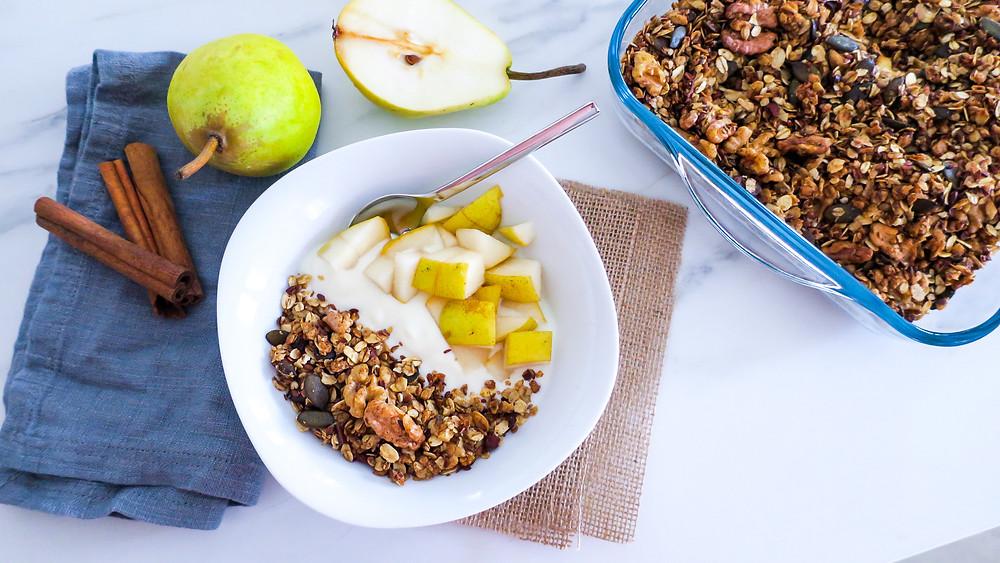 Rezept Herbstliche Birnen-Frühstücksbowl