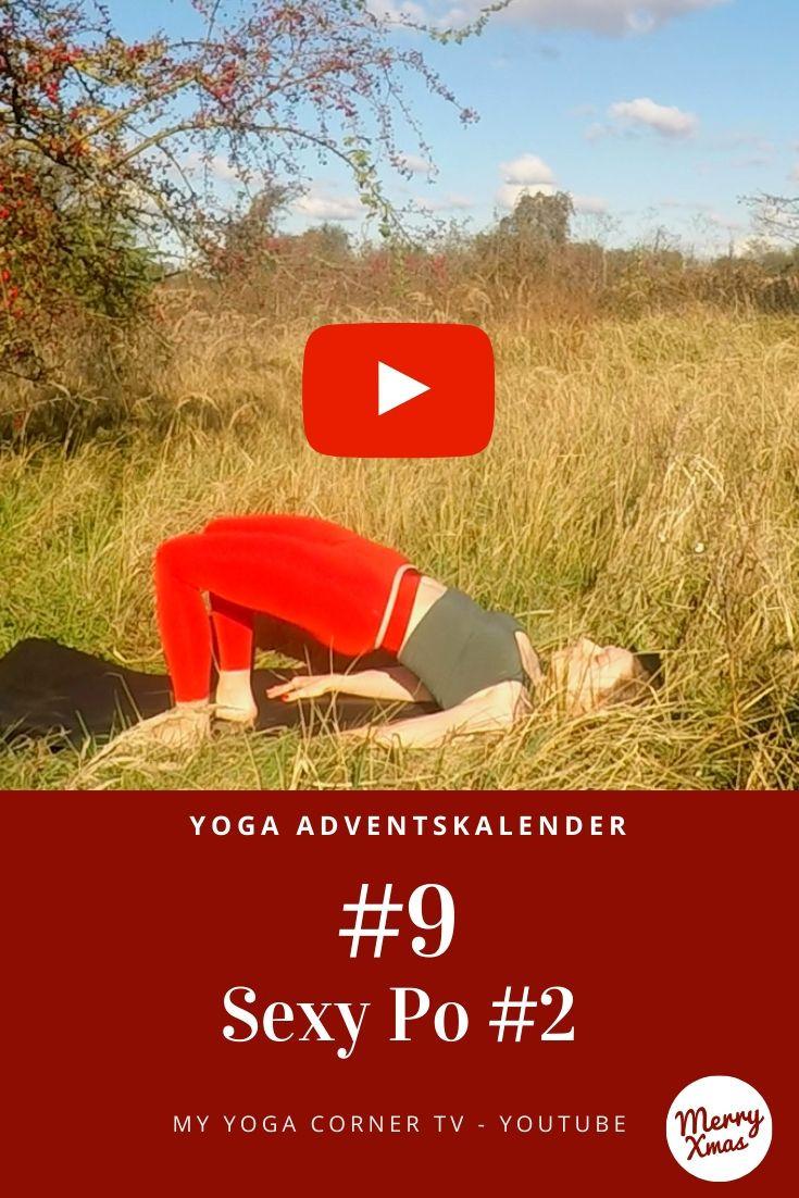 Yoga Türchen Nr. 9 Sexy Po #2 - my yoga corner Adventskalender #yoga #adventskalender #yogavideo #pose #asana #sexypo #anfänger