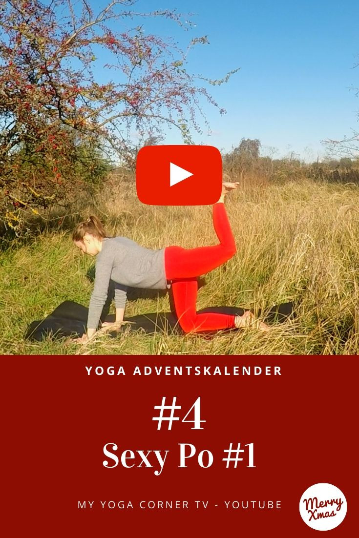 Yoga Adventskalender Tür 4: sexy Po #1 #yoga #adventskalender #anfängeryoga #5minyoga #asana #yogagirl #weihnachtsyoga