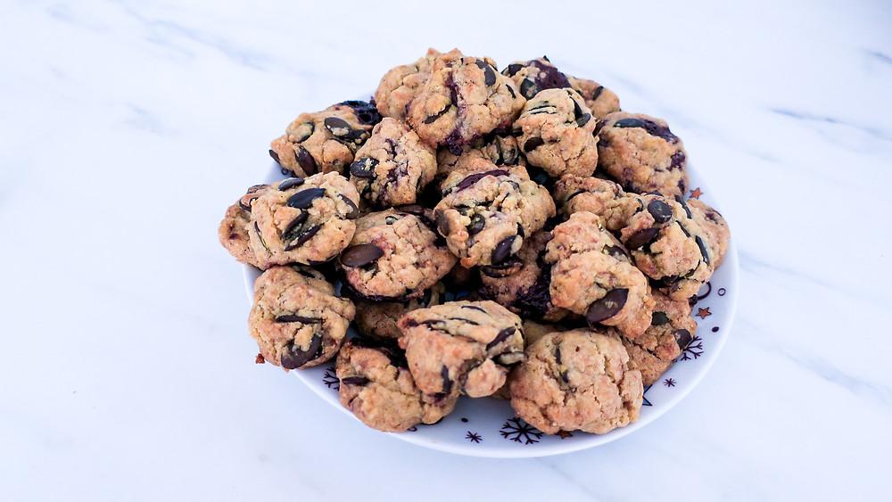 Vegane Beauty Kekse nussfrei #easy #vegan #rezept #gesund #healthy #10min #weihnachten #schnell #nussfrei