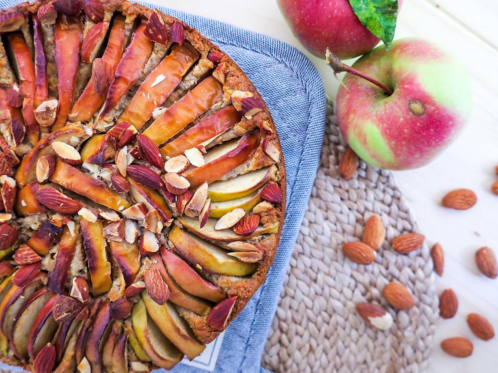 Herbstlicher veganer Apfelkuchen - Rezept