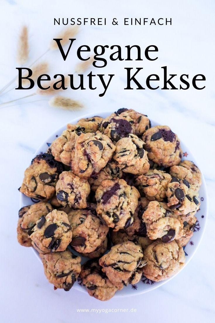 Vegane Beauty Kekse Nussfrei #easy #vegan #rezept #gesund #healthy #10min #cleaneating #weihnachten #schnell #nussfrei