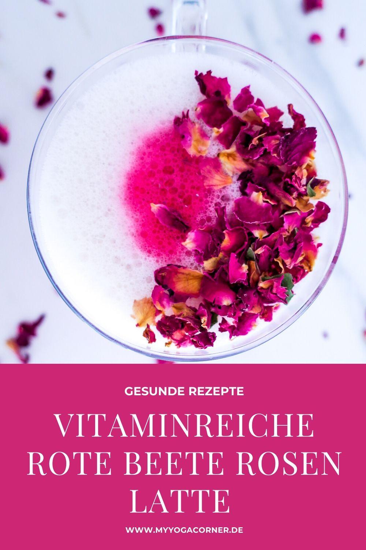 Vitaminreiche Rote Beete Rosen Latte #rezept #latte #gesund #schnell #einfach #easy #healthy #vegan #recipes #clean #snack #rote #beete #rosen