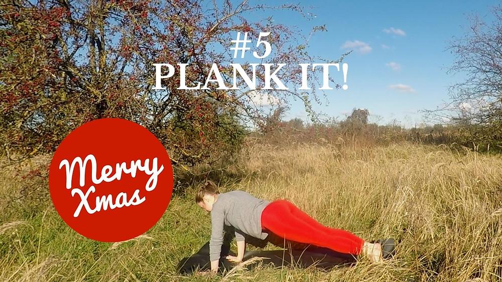 Yoga Türchen Nr. 5 Plank it! - my yoga corner Adventskalender #yoga #adventskalender #yogavideo #Poübung