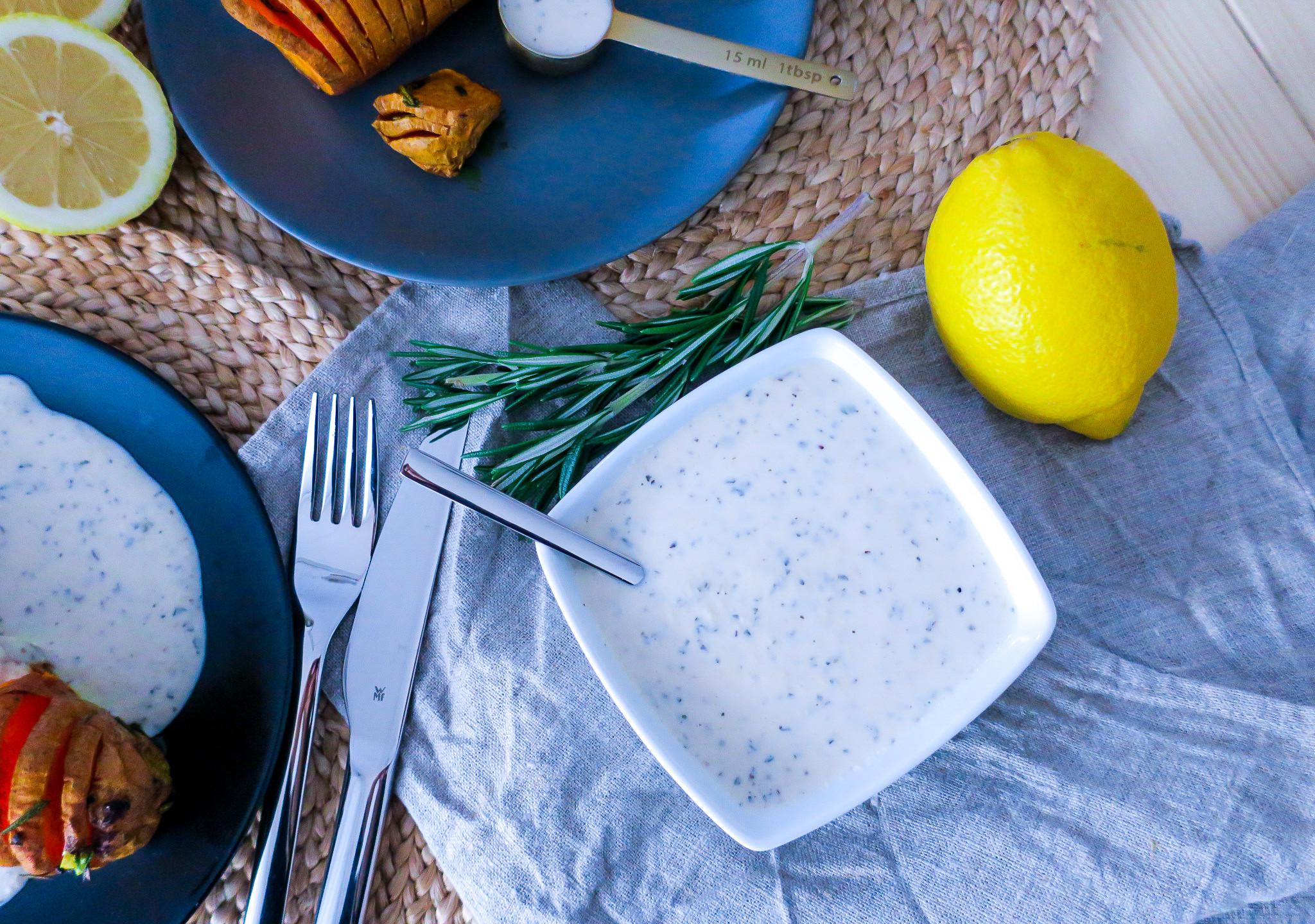 Rezept Marinierte Süßkartoffeln mit veganer Sour Cream