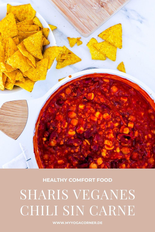 Sharis veganes Chili sin Carne - nach Schwester Art! #chili #sin #carne #vegan #gesund #rezepte #recipe #einfach #easy #schnell #lowcalorie #protein #kidneybeans #chickpeas #nachos