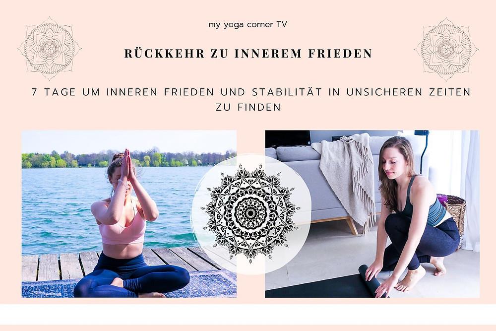 Yoga Challenge Rückkehr zu innerem Frieden von my yoga corner
