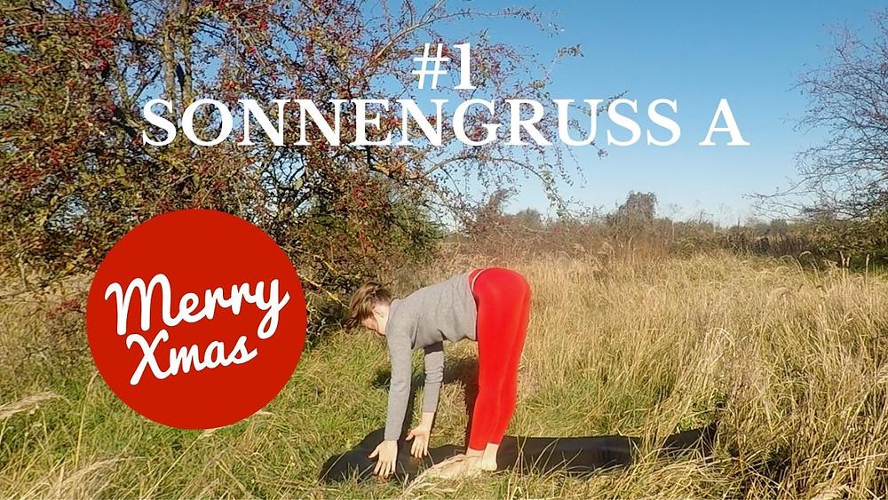 Yoga Türchen Nr. 1 Sonnengruß A - my yoga corner TV Adventskalender. #yoga #adventskalender #yogavideo