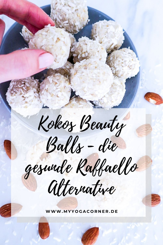Kokos Beauty Balls - die gesunde Raffaello Alternative #delicious #dessert #snack #balls #energyballs #raffaello #healthy #gesund #recipe #rezept #easy #quick #snacking #vegan