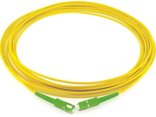 Simplex single mode fiber optics patch cord (5m)