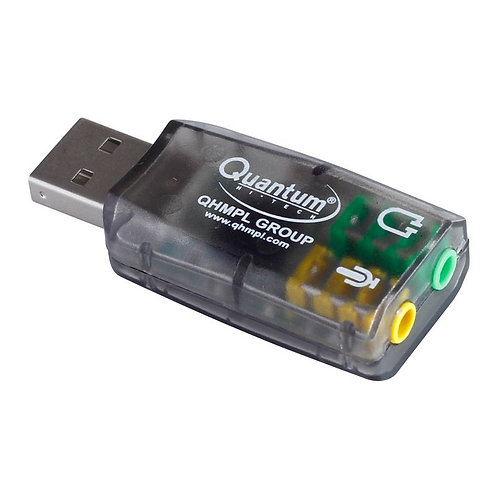 USB Sound Card Adapter For Windows And Mac, Plug And Play No Drivers Needed