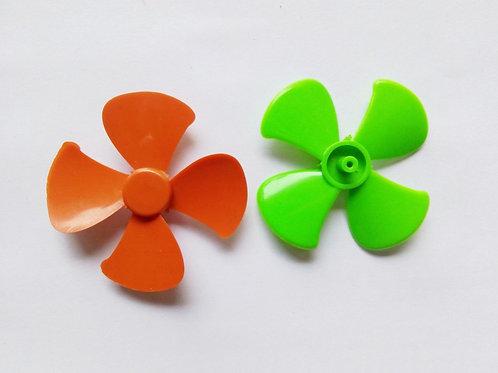 2 PCs Plastic fan Blades for DC Toy Motor - Propeller